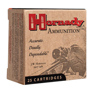 Hornady Custom .25 ACP Ammunition 25 Rounds 35 Grain Hornady XTP Jacketed Hollow Point 900fps