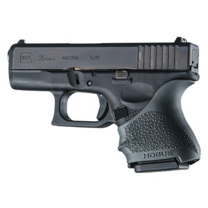Hogue Handall Beavertail Slip-On Grip Sleeve GLOCK 26/27/33 Black