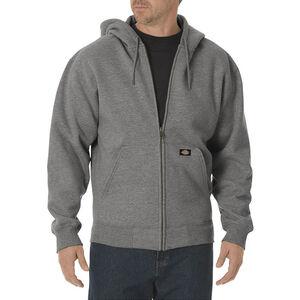 Dickies Men's Midweight Fleece Full Zip Hoodie 3XL Heather Gray
