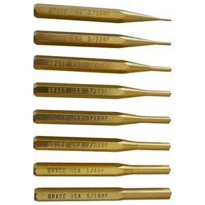 Grace USA Punch Set Roll Pin Punch Set of 8 Brass BRP-8