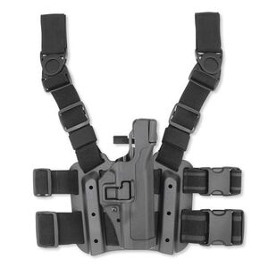 BLACKHAWK! Level 3 SERPA Tactical Leg Holster For GLOCK 19/17 Right Hand Polymer Black 430600BK-R