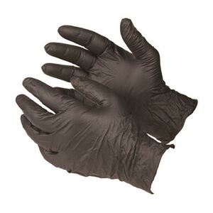 Armor Forensics Nitrile Gloves Powder Free Black Small 100 Pack 3-5331