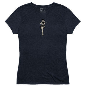 MagPul Women's Hula Girl Tri-Blend T-Shirt Extra Small Polyester/Cotton/Rayon Navy