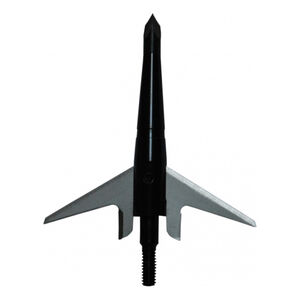 """Swhacker Products Two Blade Mechanical Broadheads 100 Grain 2"""" Cutting Diameter High Carbon Steel Tip Stainless Steel Blades Anodized Aluminum Body Black 3 Pack SNJ-580-CLU5J"""
