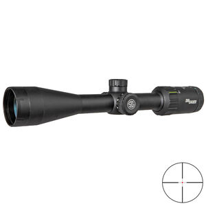 SIG Sauer WHISKEY3 3-9x50mm Rifle Scope Hellfire Quadplex Illuminated Reticle 1 Inch Tube .25 MOA Adjustment Matte Black Finish