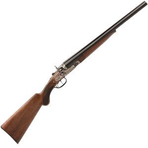 """Taylor's & Co Wyatt Earp Side By Side Coach Shotgun 12 Gauge 20"""" Barrels 2 Rounds Walnut Stock Blued"""