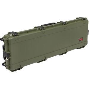 """SKB Cases iSeries 5014 Double Rifle Hard Case 49"""" Waterproof Dustproof Lockable Polypropylene OD Green"""