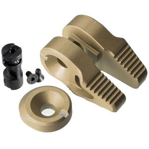 Strike Industries AR-15 Flip Switch Low Profile Ambidextrous Safety Ergonomic Shape Anodized FDE