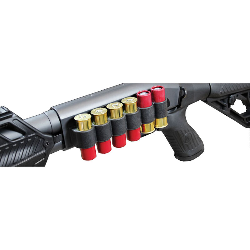 Adaptive Tactical Receiver Mounted Shell Carrier Mossberg 500/590/88 12 Gauge Six Rounds Synthetic Black