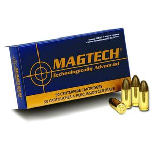 Magtech 9mm Luger Ammunition 50 Rounds LRN 124 Grains 9E