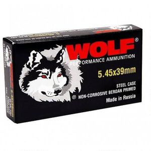 Wolf Performance 5.45x39mm Ammunition 30 Rounds JHP 55 Grains 545BHP