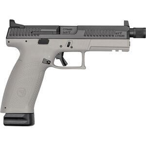 "CZ P-10 F Suppressor-Ready 9mm Luger Semi Auto Pistol 5.11"" Threaded Barrel 10 Rounds High Night Sights Two Tone Urban Gray Polymer Frame Black Finish"