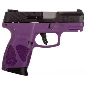 "Taurus PT111 G2C Semi Auto Pistol 9mm Luger 3.2"" Barrel 12 Rounds 3 Dot Sights Black Slide/Polymer Frame Deep Purple Finish"