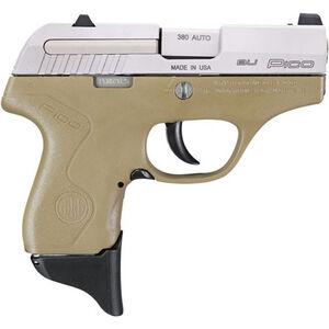 "Beretta Pico .380 ACP Semi Auto Pistol 2.7"" Barrel 6 Rounds XS Front Night Sight Two Tone FDE Polymer Frame with Inox Slide Finish"