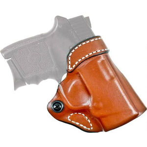 DeSantis Gunhide Criss-Cross SIG P365 OWB Cross Draw Belt Holster Right Handed Leather Tan