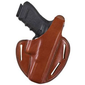 Bianchi #7 Shadow II Pancake-Style Holster SZ22A Ruger LCR .38 Special Right Hand Plain Tan Leather