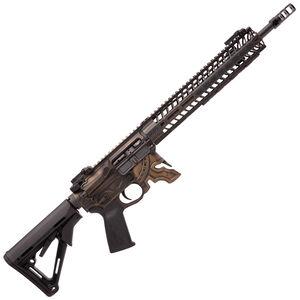 "Spikes Rare Breed Spartan AR-15 Semi Auto Rifle 5.56 NATO 16"" Barrel Milled Spartan Helmet Lower 12"" M-LOK Handguard Collapsible Stock Bronze Battle Worn Finish"