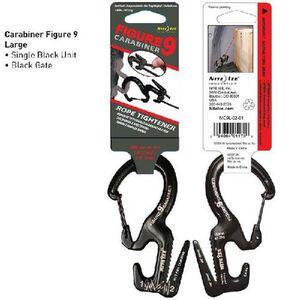 Nite Ize Figure 9 Carabiner Aluminum Stainless Steel Large Black