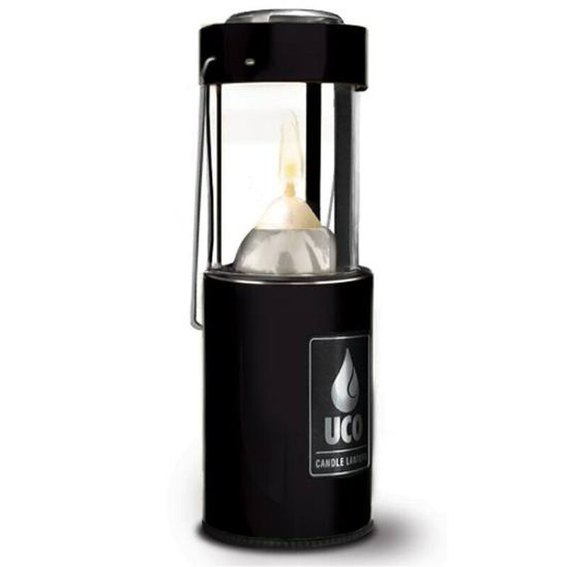 Industrial Revolution Original Candle Lantern Aluminum Black with Carry Handle L-AN-STD-BLK