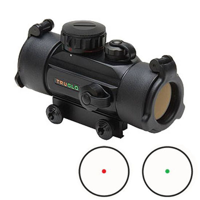 TRUGLO Dual Color 30mm Red Dot Scope 5 MOA Dot Black TG8030DB
