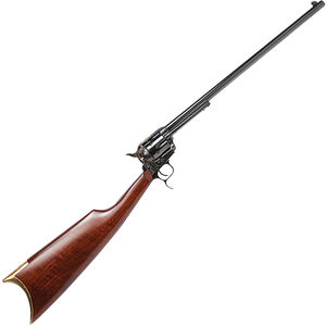 "Cimarron Revolving Carbine .44-40 Win SA Revolver Rifle 18"" Barrel 6 Rounds Wood Stock Case Hardened/Blued Finish"