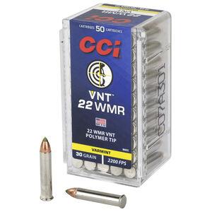 CCI VNT .22 WMR Ammunition 50 Rounds 30 Grain Speer VNT Polymer Tip Projectile 2200fps