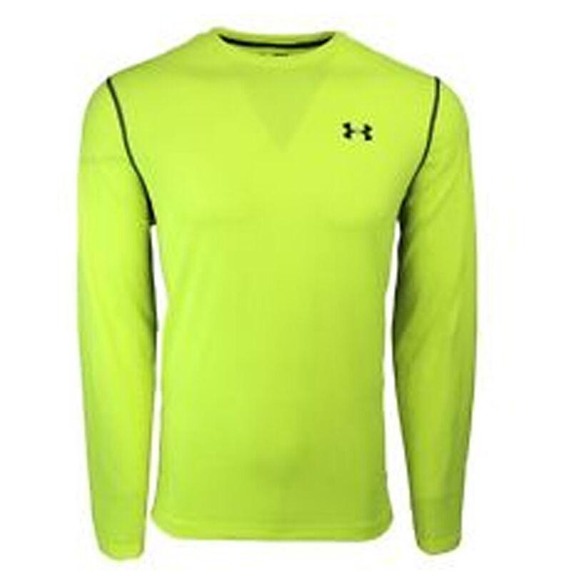 Under Armour Performance Men's Long Sleeve T Shirt Small Polyester Blaze Orange