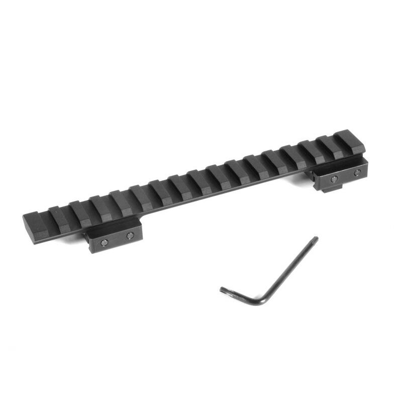 EGW Heavy Duty CZ 550 Standard Action Picatinny Scope Rail Mount 20 MOA Built In Bias Aluminum Matte Black