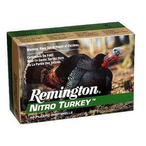 "Remington Nitro Turkey 20 Gauge Ammunition 10 Rounds 3"" #5 Plated Lead 1-1/4 Ounce NT20M5"