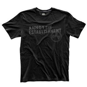 Magpul Fine Cotton Annoy The Establishment T-Shirt Size X-Large Matte Black MAG741-001-XL