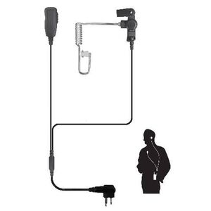 Code Red Investigator-M Two-Wire Lapel Microphone for Motorla Two-Way Radios