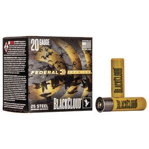 "Federal Black Cloud FS Steel 20 Gauge Ammunition 3"" #3 Steel Shot 1 Ounce Flitecontrol Flex Wad 1350 fps"