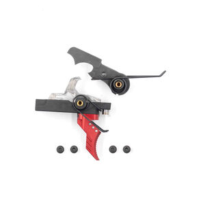 Airborne Arms Extended Reach Geronimo Trigger System Curved Shoe Adjustable Pull Weight Red