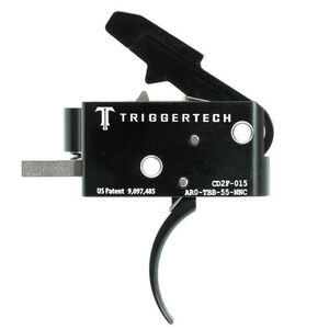 Trigger Tech Combat AR-15 Primary Drop In Replacement Trigger Curved Lever Two Stage Non-Adjustable PVD Coated Black Finish