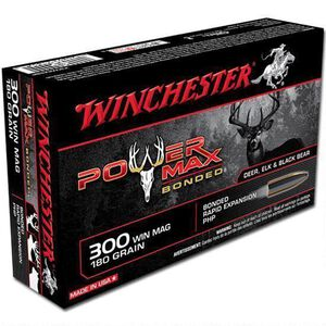 Winchester .300 Winchester Magnum Ammunition 20 Rounds Bonded PHP 180 Grains