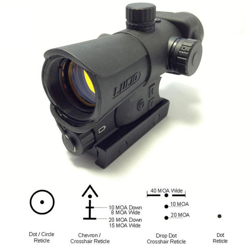 Lucid Optics HD7 Gen III Red Dot Sight 2 MOA Four Reticles 34mm Matte Black L-HD7