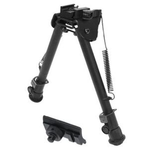 """Leapers UTG Tactical Op Bipod Quick Release Adjustable Height Dual Mount 8.0"""" to 12.4"""" Aluminum Black"""