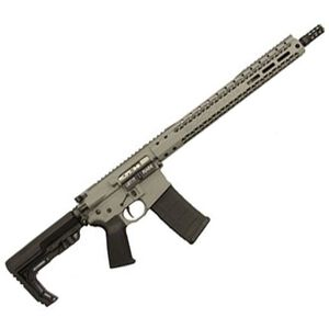 "Black Rain Ordnance Recon Scout AR-15 Semi Auto Rifle 5.56 NATO 16"" Barrel 30 Rounds SLM M-LOK Handguard MFT Minimalist Stock Grey"