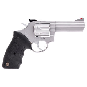 "Taurus Model 66 Double Action Revolver .357 Magnum 4"" Barrel 7 Rounds Fixed Front/Adjustable Rear Sights Soft Rubber Grip Matte Stainless Steel Finish"