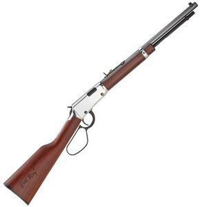 "Henry Frontier Carbine ""Evil Roy"" Edition Lever Action Rifle .22 WMR 16.5"" Octagonal Barrel 9 Rounds Silver Receiver Walnut Stock Blued"