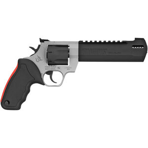 """Taurus Raging Hunter .357 Mag DA/SA Revolver 6.75 """" Ported Barrel 7 Rounds Adjustable Rear Sight Picatinny Top Rail Rubber Grip Two Tone Stainless/Black"""