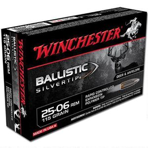 Winchester Silvertip .25-06 Rem Ammunition 200 Rounds, BST, 115 Grains