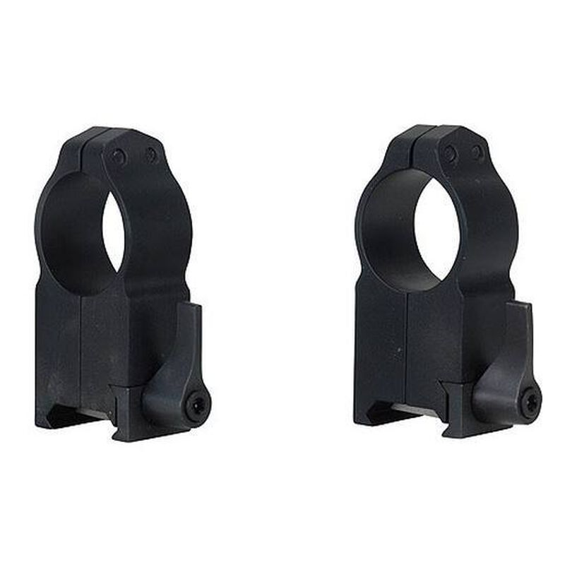 """Warne Maxima Quick Detach Weaver/Picatinny Style Scope Ring 1"""" Tube Ultra High Height Matte Black Finish 204LM"""