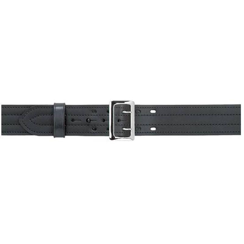 "Safariland Model 87 Suede Lined 2.25"" Duty Belt With Buckle 32"" Waist Nickel Buckle Basket Weave Black 87-32-8"