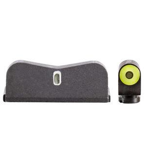 XS Sights DXT2 Big Dot Night Sights S&W M&P .380 Shield EZ Green Tritium Front With Yellow Ring/Tritium Stripe Rear Matte Black
