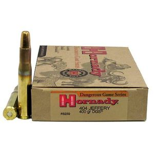 Hornady DG .404 Jeffery 400 Grain DGS FMJ 20 Round Box