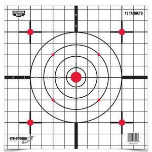 "Birchwood Casey Eze-Scorer 12"" Sight-In Paper Target Indoor/Outdoor White Grid Background 13 Pack 37213"