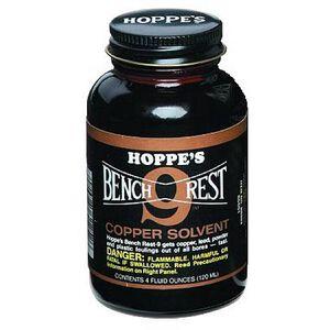 Hoppe's Bench Rest No. 9 Liquid Copper Solvent 4 oz. Glass Bottle BR904