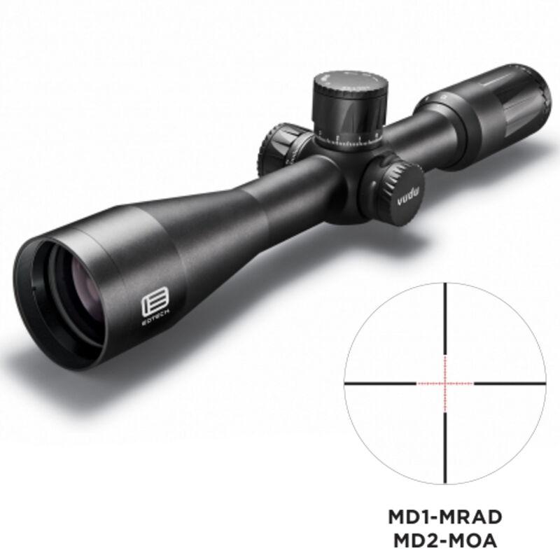 EoTech VUDU 2.5-10x44 Precision Riflescope MD-1 Illuminated Reticle 30mm Tube .1 MRAD Adjustments First Focal Plane Anodized Finish Flat Black