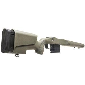 Mc3 Legend Deluxe DBM Stock fits Remington 700 Short Action Varmint/Sendero Barrel Contour Cheek Riser LOP System Polymer Olive